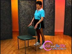 Sit and Be Fit - Balance and Fall Prevention - Mary Ann Wilson, RN - Ver. Chair Exercises, Balance Exercises, Sitting Down Exercises, Home Safety Checklist, Physical Activities, Motor Activities, National Health, Senior Fitness, Workout For Beginners