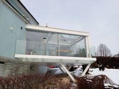 Exkluzívna Zimná záhrada motoricky ovládané posuvné dvere motoricky ovládané exteriérové tienenia sklenená podlaha sklenené zábradlie  oceľová konštrukcia Aquarium, Aquarius, Fish Tank