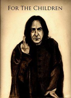 Snape: For the Children by SarahSilva on DeviantArt