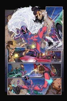 LINEART: Francisco Herrera  COLOR: Fernanda Rizo (vía Spider Verse #2 on Behance)