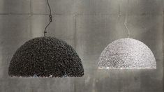 These Lamps Are Made From Marble Chips And Swarovski Crystals