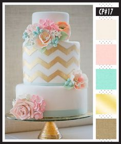 CP#17 Soft Tiffany Blue & Gold - Lizzy B Loves Color Palettes - Wedding Colors #color_palette #wedding_color_inspiration #wedding_colors