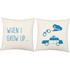 I Want To Be a Police Officer Throw Pillows