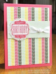 Birthday Card; Stampin Up Tag Talk; www.cardcreationsbybeth.com