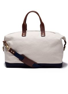 Weekender bag nautical canvas, weekender bags, baby bags, travel bags for women, Weekender Bags, Backpack Bags, Cool Messenger Bags, Nautical Canvas, Cake Table Birthday, Travel Chic, Chicken And Shrimp Recipes, Travel Bags For Women, Baby Bags