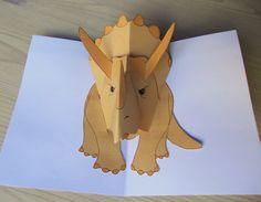 Triceratops pop up dinosaur
