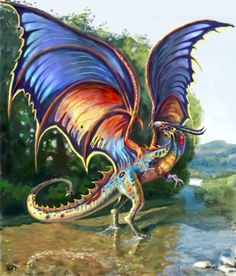 rainbow dragon http://www.carmonaart.com/
