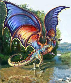 rainbow dragon http://www.carmonaart.com/