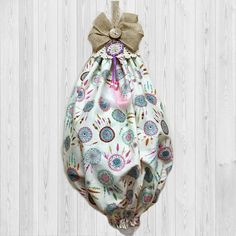 Boho Dream Catcher  Plastic Bag Dispenser  Bag Organizer