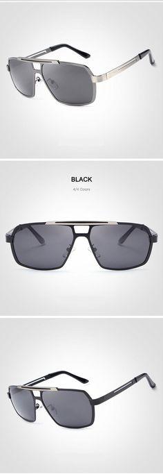 3502842789205 2017 Fashion Driving Sunglasses for Man Black Beach Mens sunglasses  Polarize Protection Vintage Sun glasses UV400 Protection hot