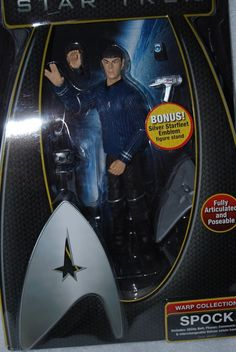 All About The Star Trek 2009 Cast read about Chris Pine as James T. Kirk and Zachary Quinto as Spock. Get signed photos Chris Pine & Zachary Quinto. Star Trek 2009 Cast, Star Trek Warp, Star Trek Toys, Zachary Quinto, Sci Fi Series, Geek Gadgets, Spock, Action Figures, It Cast