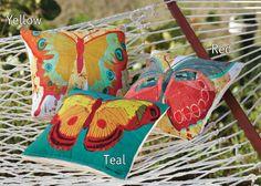 Bright Birds & Butterflies Indoor/Outdoor Pillows - Acacia