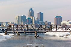 Downtown Des Moines, Iowa!!! I love this picture! Its home.