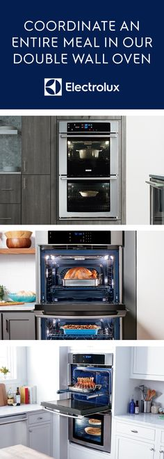 Perfect for entertaining, the Electrolux Double Wall Oven gives you the ability to coordinate an entire meal with two ovens and three adjustable racks. Also, all your favorite dishes will be evenly baked and delicious thanks to the Perfect Taste Convection, which uses dual fans to continually circulate air.