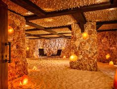 """Salt Cave - This is a total New Age freak-out, in the best possible way. These subterranean caves are lined in Himalayan salt, which, according to Salt's website, contain the 94 """"natural minerals and trace elements that are found in the human body."""""""