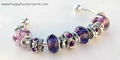 DIY:  How to Make this Pandora-Inspired Bracelet - very easy to make - lots of pictures - Happy Hour Projects