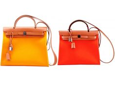 Hermes Yellow and Orange Herbag Zip 39 Bag
