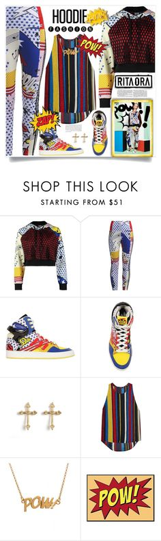 """""""Hoodie Fashion"""" by fassionista ❤ liked on Polyvore featuring adidas Originals, Rachel Entwistle, Balmain, Edge Only, ritaora, sneakers, hoodie, fashionset and Athletichic"""