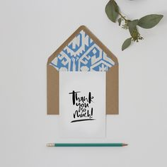 Hand Lettered 'Thank You So Much' Card
