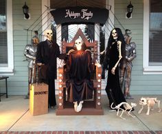The Addams Family. The Baxter Skeletons help promote local High School play