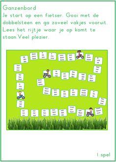 Ganzenbord met wisselrijtjes te gebruiken bij Lijn 3 en thema 2