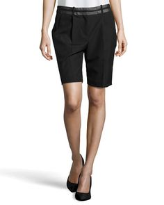 Pleated Shorts Pleated Shorts, Alexander Wang, Bermuda Shorts, Legs, Cotton, Leather, Shopping, Fashion, Moda