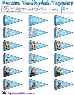 Frozen: Free Printable Candy Bar Labels and Toppers and Wrappers for Cupcakes.