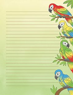 Parrot Stationery