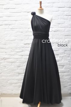 Hey, I found this really awesome Etsy listing at https://www.etsy.com/listing/150234131/bridesmaid-dress-infinity-dress-black