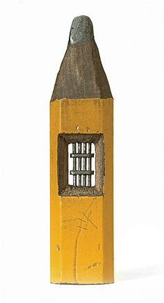 Image: Behind Bars (© Dalton M. Ghetti/Photos by Sloan Howard) Pencil Carving, Graphite Art, Conceptual Drawing, Led Pencils, Unusual Art, Crayon Art, Mellow Yellow, Pencil Art, Cool Artwork