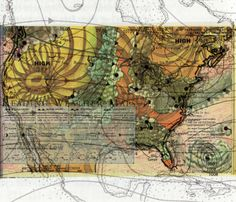 Geo Graphic: Weather Cartography  collage-sketch by Casey Cripe