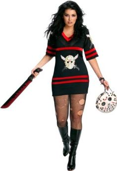 Rubie's Costume Co Womens Plus-Size Secret Wishes Full Figure Friday The 13th Miss Voorhees Costume
