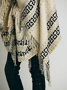 Free People Weave Lightweight Poncho at Free People Clothing Boutique