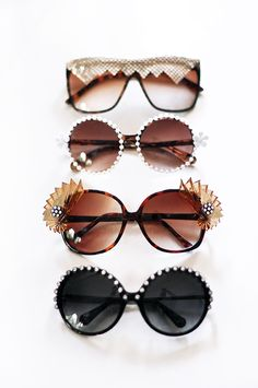 4b93dc44643 4 Fab DIY Embellished Bedazzled Sunglasses For the Bling of It!