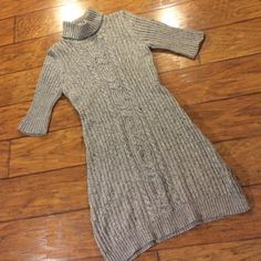 "Old Navy Short Sleeved Sweater Dress Gray, with specs of charcoal mixed in. So comfortable! True to size! From shoulder seam to bottom of dress it measures 36.5"". Old Navy Dresses"