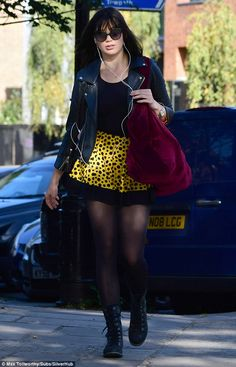 Ready to waltz: Daisy Lowe was preparing to hit the dancefloor as she arrived at rehearsals for Strictly Come Dancing