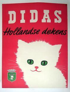 awesome Didas Hollandse Dekens (Dutch Wool) vintage advertising poster, c. 1955 (unknown...