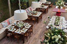 Decoração casamento festa em casa (Foto: Julia Ribeiro)