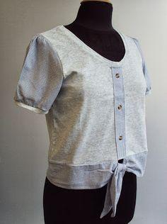 'So, Zo...': Refashion Friday Inspiration: Shirt Detail T-shirt...