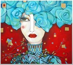 Risultati immagini per karina chavin pinturas Abstract Faces, Abstract Portrait, Portrait Art, Art And Illustration, Illustrations, Whimsical Art, Face Art, Doodle Art, Zentangle