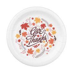Family Thanksgiving Celebration. Paper Plate  sc 1 st  Pinterest & Mostly Just Full Thanksgiving Plate. Paper Plate | Thanksgiving ...