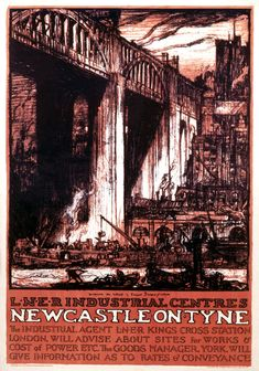 Newcastle on Tyne, Northumberland, LNER Industrial Centres. 16