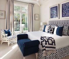 17 Hermoso color azul Diseño de dormitorio neutral blue bedroom, dark b . - 17 Hermoso diseño de dormitorio de color azul neutral blue bedroom, dark b … 17 Herm - Master Bedroom Interior, Home Decor Bedroom, Modern Bedroom, Trendy Bedroom, Navy Master Bedroom, Bedroom Furniture, Navy Home Decor, Bedroom Interiors, Grey Furniture