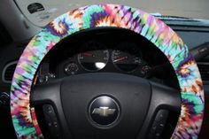 Tye Dye Steering Wheel Cover Hippie Spring by PickleAndRaRa, $14.00