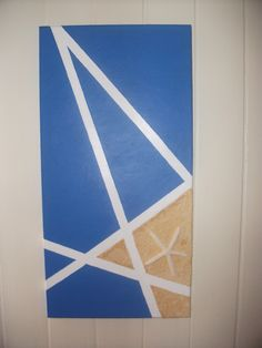 masking tape canvas painting