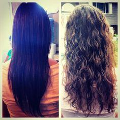 permanente krøller langt hår
