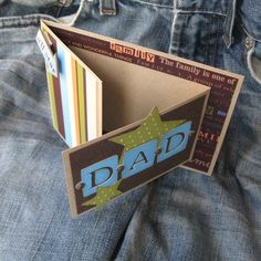 Love how this card opens!  The perfect father's day card with a spot for a picture!