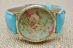 Floral Watch Women & Man Wrist Watch Vintage Style by BeautifulShow, $8.35 Fashion flower leather watch,the best gift of friendship.