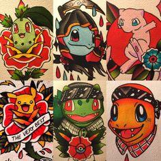 Tattoo Masters davisrider: I like painting pokemon Check out the full… via… Traditional Tattoo Old School, Traditional Rose Tattoos, Traditional Roses, Traditional Tattoo Flash, Charmander Tattoo, Pokemon Tattoo, Pokemon Pokemon, Tatoo Art, Cat Tattoo