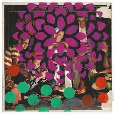 Collage on Cover Vinyl Record